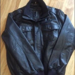 KNOLES & CARTER military leather navy brand new